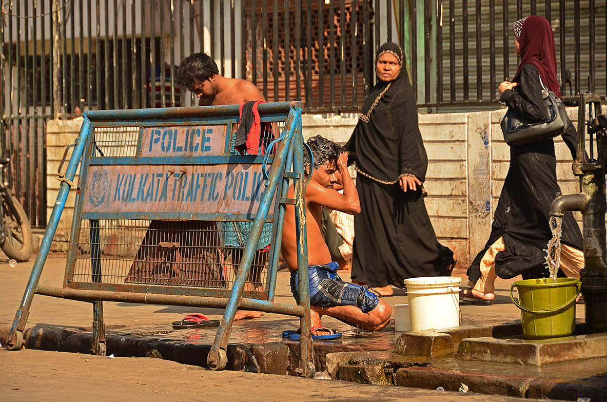 The streets of Kolkata