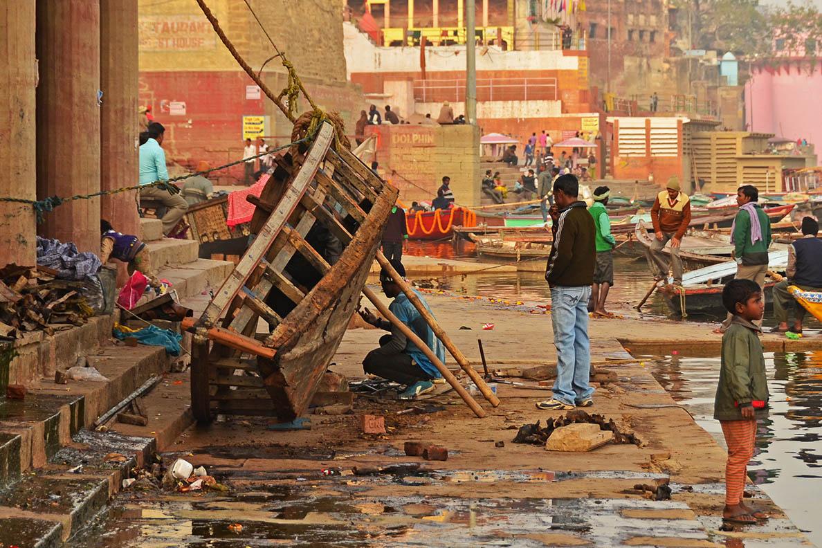 At the Ghats of Varanasi